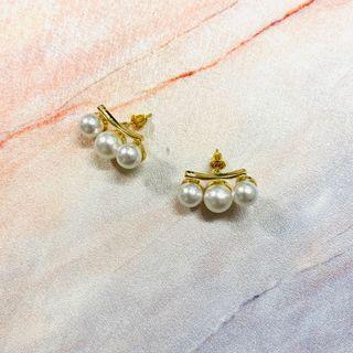 B030 幾何珍珠耳環