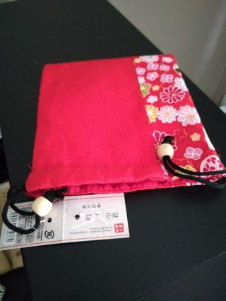 Brand New Red Drawstring Pouch