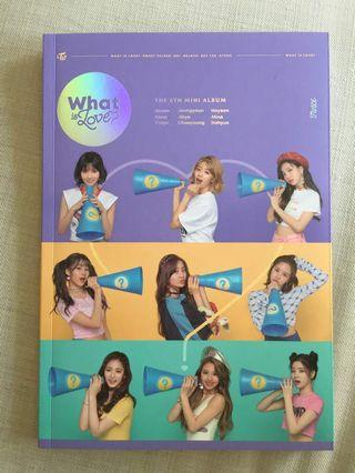 (WTB) TWICE ALBUM WHAT IS LOVE B VERSION