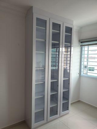 Carpenter customade glass door full height cabinet