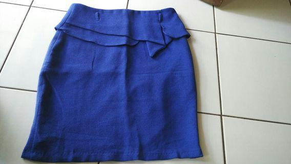 Blue Skirt/rok kerja