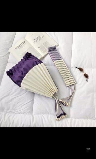 日系百摺風琴手提袋(深紫色)