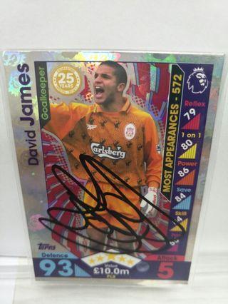 🚚 David James Card Signed