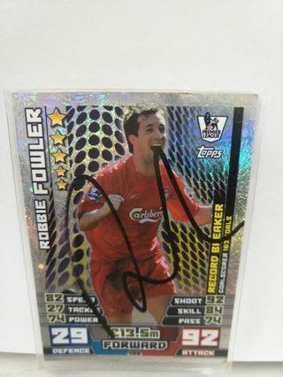 🚚 Robbie Fowler Card Signed