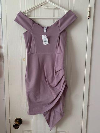 M boutique off shoulder lilac dress