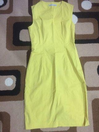 #maudandan Yellow Dress / dress kuning polos