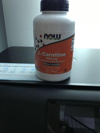 L- Carnitine 1000 mg (100 tablets)expire2022