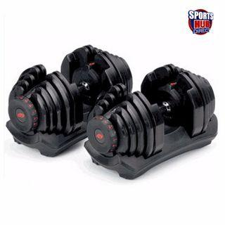 AMB Sports Management Adjustable Dumbbells Weights with Tray 23.8kg per Dumbbell - FREE DELIVERY!!