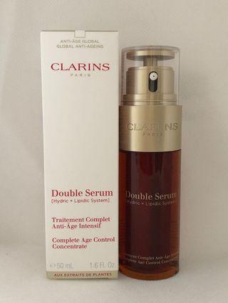 Clarins double serum anti age 50ml  第8代賦活雙精華的 [水+油] 黃金配方