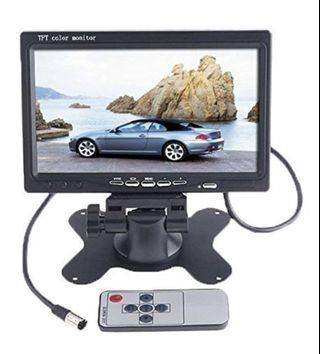 🚚 (E2446) BW 7 inch High Resolution 800480 TFT Color LCD Car Rear View Camera Monitor Support Rotating The Screen and 2 AV Inputs