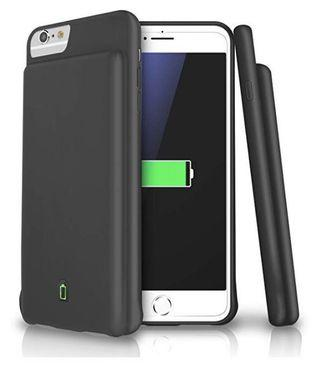 🚚 (E2443) LoHi Battery Case for iPhone 7/6s/6 4500mAh Capacity Support Headphones Ultra Slim Extended Battery Rechargeable Protective Portable Charger