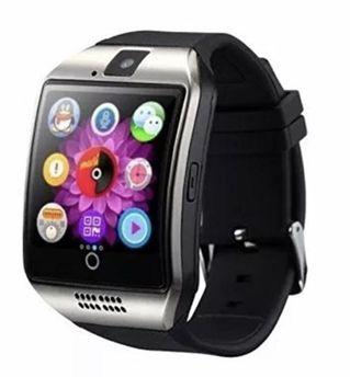 🚚 (E2442) Smart Watch with Camera, Ezone Q18 Bluetooth Smartwatch with Sim Card Slot Fitness Activity Tracker Sport Watch for Android Smartphones (Silver)
