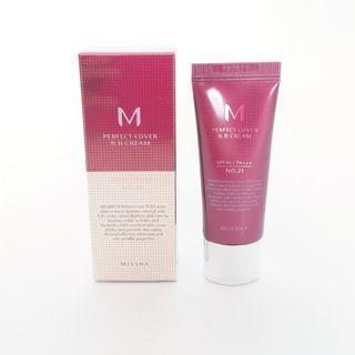 NEW Missha Perfect Cover BB Cream SPF42/PA+++ No.21 Light Beige 20ml