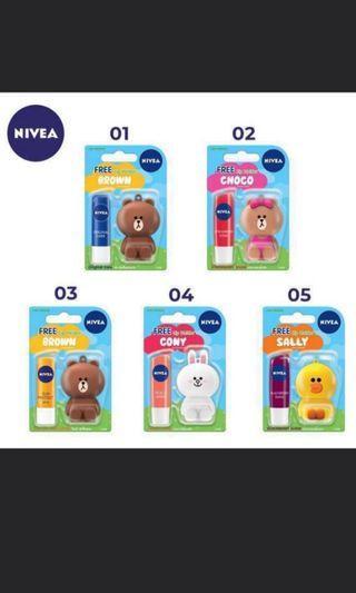 Nivea Lip Balm (Line Bear)