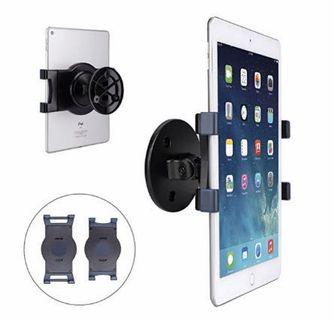 """(E2437) AboveTEK iPad Wall Mount, Swivel 360° Rotating Tablet Holder w/Two Brackets to Fit 6-13"""" Tablets, Horizontal/Vertical Tilt iPad Arm for Flexible Viewing Angles in Kitchen House Showroom Retail Store"""