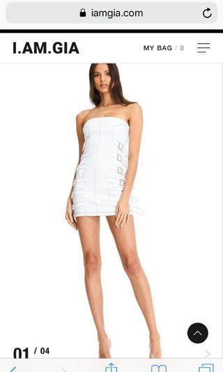 I am gia white sceptrum dress