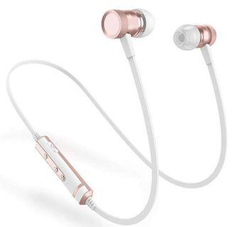 🚚 (E2466) Picun H6 Bluetooth Headphones Wireless with Microphones Running Earphones for Sports, IPX4 Sweatproof in Ear Earbuds Magnetic, CSR Bluetooth 4.1 for Phone/Android Workout Headphones (Rose Gold)