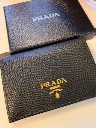Sell only in June!NEW PRADA CARD HOLDER WITH BOX