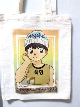Subtle rainbow gay queer tote bag pride totebag 80s anime