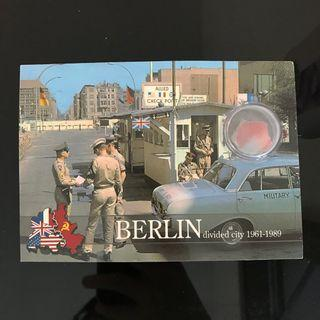 Berlin Wall postcard (includes wall piece)