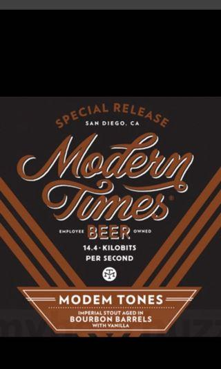 精釀啤酒craftbeer Modern Times: Modem Tones 2019 vanilla