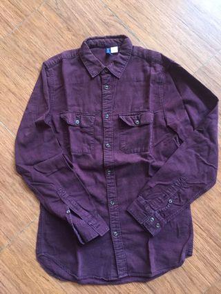 H&M Burgundy Shirt