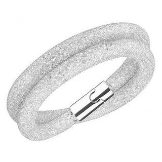 swarovski stardust double bangle in white