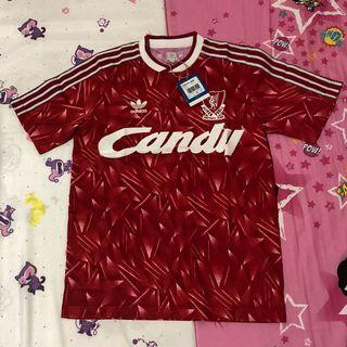VINTAGE OFFICIAL ADIDAS LIVERPOOL CANDY 1988 88/89 FOOTBALL SHIRT JERSEY BNWT NEW SMALL S RARE
