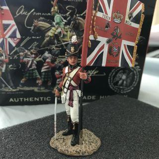 King & Country Coldstream Guard officer with King's Colour (NA127)