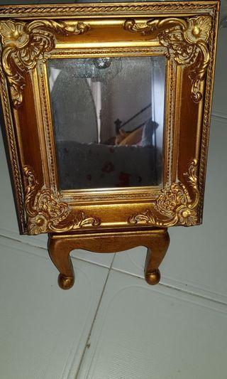 vintage wooden table mirror