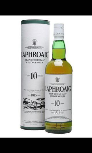 拉佛格 10 單一麥芽蘇格蘭威士忌  - Laphroaig 10 Years Single Malt Scotch Whisky
