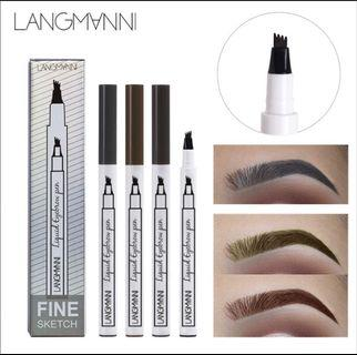 4 Fork Tip Eyebrow Pencil Waterproof Eyebrow Tattoo Sketch Pen Eyes Makeup Tools