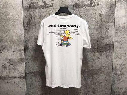 ❤️ OffWhite X The Simpsons Printing T-Shirt ❤️