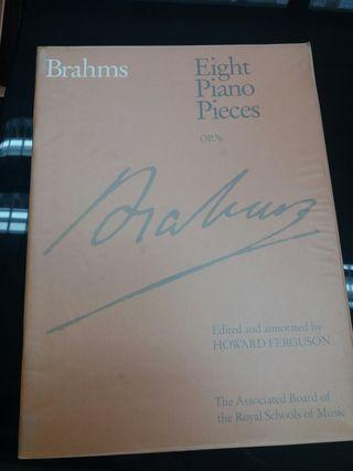 Brahms 8 piano pieces