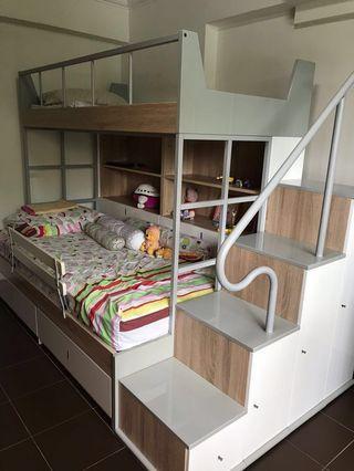 Bunk Bed ( Double decker bed) set