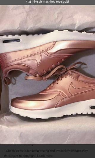 Authentic nike airmax thea rose gold