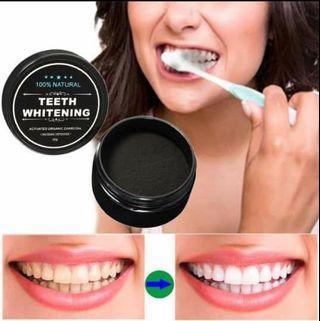 Teeth Whitening Charcoal Arang Serbuk Pemutih Gigi