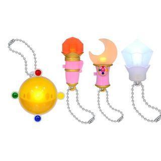 (清貨-最後2套)美少女戰士扭蛋 sailor moon crystal 全一套4款 發光銀水晶變身棒 鎖鑰扣#95773
