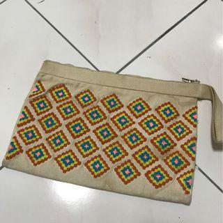 Handmade Embroidery Clutch