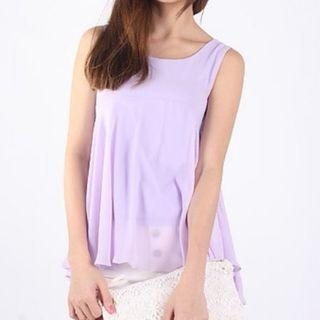 🚚 Mass clearance - lilac sleeveless chiffon top