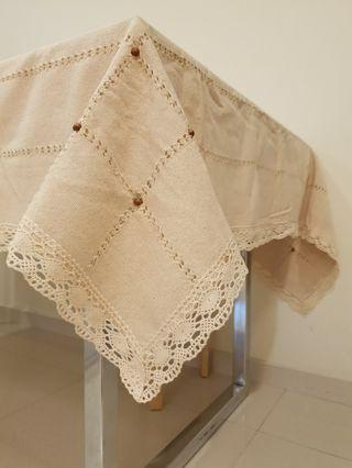 Istanbul bought table cloth handwoven crochet