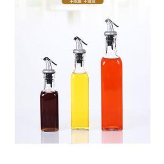 3 piece set kitchen bottle oil and sauce storage