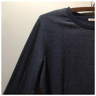 [blue/grey] sweater blouse