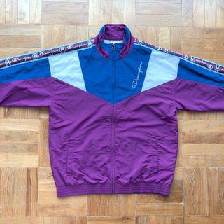 Champion Retro Tracksuit Top with Logo Taping
