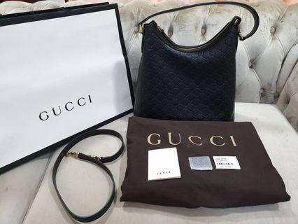 Preloved Gucci Embossed Hobo Shoulder Bag