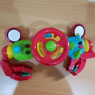 Mainan bayi elc lights and sound buggy driver red setir setiran