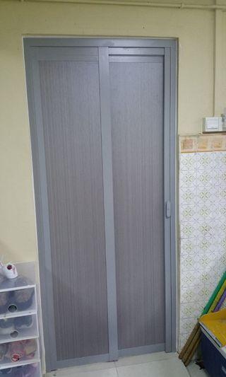 Aluminium Slide & Swing Toilet Door