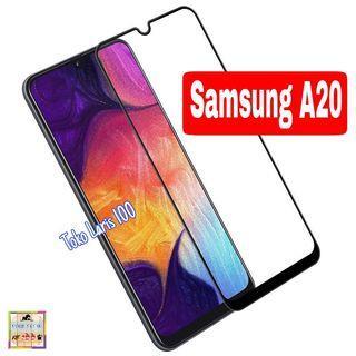 Tempered Glass Samsung A20 Warna Hitam 9D - Screen Guard
