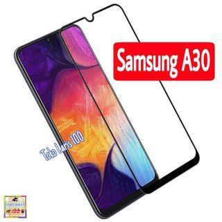 Tempered Glass Samsung A30 Warna Hitam 9D - Screen Guard