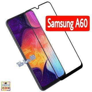 Tempered Glass Samsung A60 Warna Hitam 9D - Screen Guard